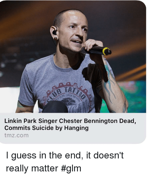 Funny, Guess, and Suicide: Linkin Park Singer Chester Bennington Dead,  Commits Suicide by Hanging  tmz.com