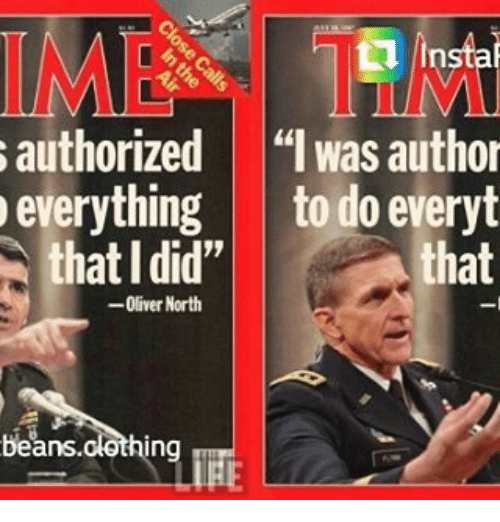 """Memes, 🤖, and Oliver North: linstal authorized """"I was author everything to"""