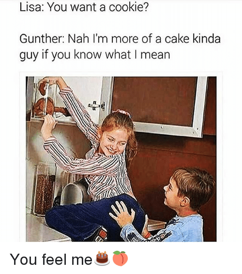 lisa you want a cookie gunther nah im more of 2198074 lisa you want a cookie? gunther nah i'm more of a cake kinda guy,Want A Cookie Meme