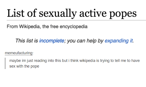 List of sexually active popes