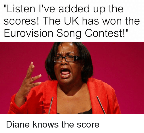 listen ive added up the scores the uk has won 21411095 listen i've added up the scores! the uk has won the eurovision song
