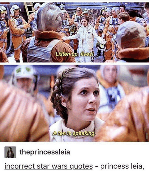 Listen Up Lives A Ten Us Speaking The Princessleia Incorrect Star