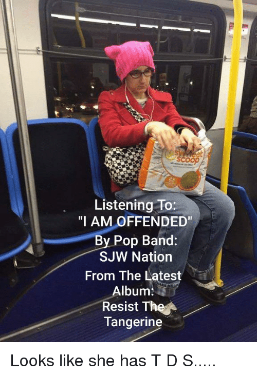 Listening to I AM OFFENDED by Pop Band SJW Nation From the
