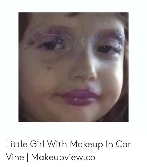 Little Girl With Makeup in Car Vine