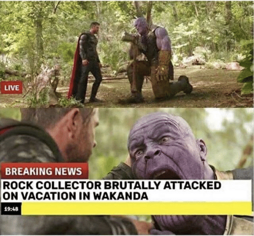 News, Breaking News, and Live: LIVE  BREAKING NEWS  ROCK COLLECTOR BRUTALLY ATTACKED  ON VACATION IN WAKANDA  19:48
