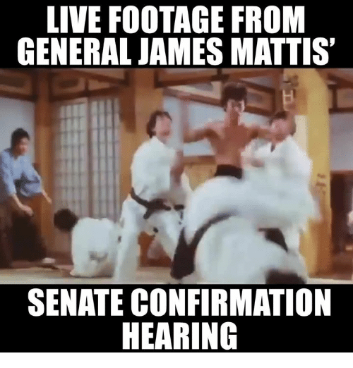 Memes, Generalization, and James Mattis: LIVE FOOTAGE FROM  GENERAL JAMES MATTIS  SENATE CONFIRMATION  HEARING