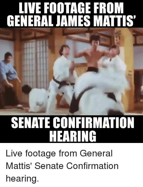 Memes, Generalization, and James Mattis: LIVE FOOTAGE FROM  GENERAL JAMES MATTIS  SENATE CONFIRMATION  HEARING Live footage from General Mattis' Senate Confirmation hearing.