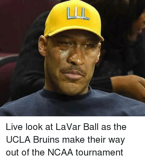 Live, Ncaa, and Ucla: Live look at LaVar Ball as the UCLA Bruins make their way out of the NCAA tournament