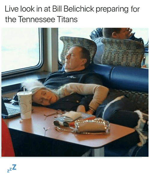 Bill Belichick, Nfl, and Live: Live look in at Bill Belichick preparing for  the Tennessee Titans 💤