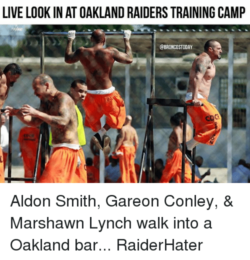 live look in at oakland raiders training camp broncostoday aldon 21267259 live look in at oakland raiders training camp aldon smith gareon