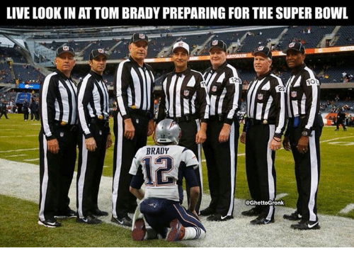 Live Look In At Tom Brady Preparing For The Super Bowl