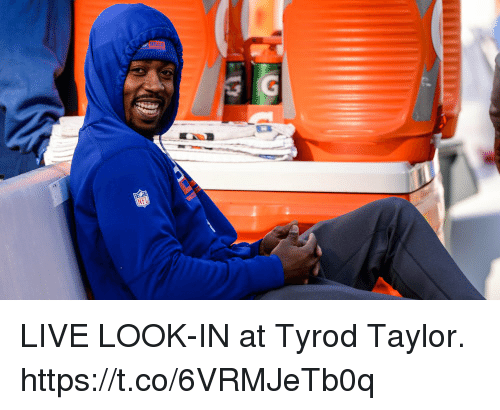 Football, Nfl, and Sports: LIVE LOOK-IN at Tyrod Taylor. https://t.co/6VRMJeTb0q