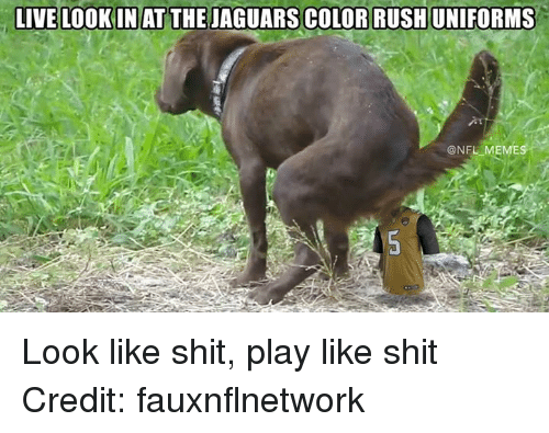 Nfl, Shit, And Jaguar: LIVE LOOKIN AT THE JAGUARS COLOR RUSHUNIFORMS @NFL