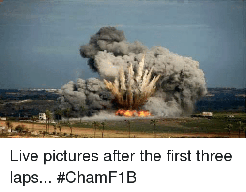 Pictures and F1: Live pictures after the first three laps...  #ChamF1B