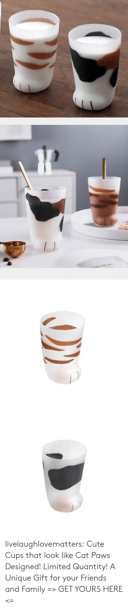 Cats, Cute, and Family: livelaughlovematters:  Cute Cups that look like Cat Paws Designed! Limited Quantity! A Unique Gift for your Friends and Family=> GET YOURS HERE <=