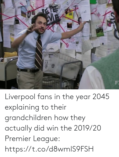 Premier League, Soccer, and Liverpool F.C.: Liverpool fans in the year 2045 explaining to their grandchildren how they actually did win the 2019/20 Premier League: https://t.co/d8wmlS9FSH