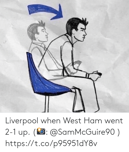 Memes, Liverpool F.C., and 🤖: Liverpool when West Ham went 2-1 up. (📸: @SamMcGuire90 ) https://t.co/p95951dY8v