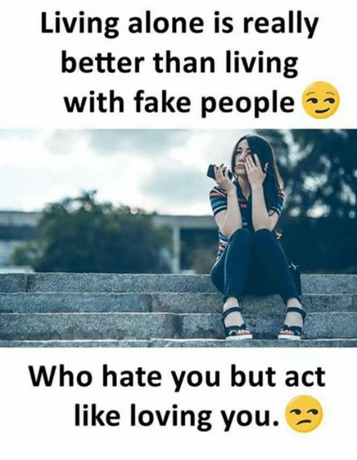 living alone is really better than living with fake people 24590067 ✅ 25 best memes about fake people fake people memes