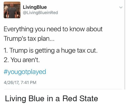 Trump Tax Plan Jets: Living Blue Living BlueinRed Everything You Need To Know