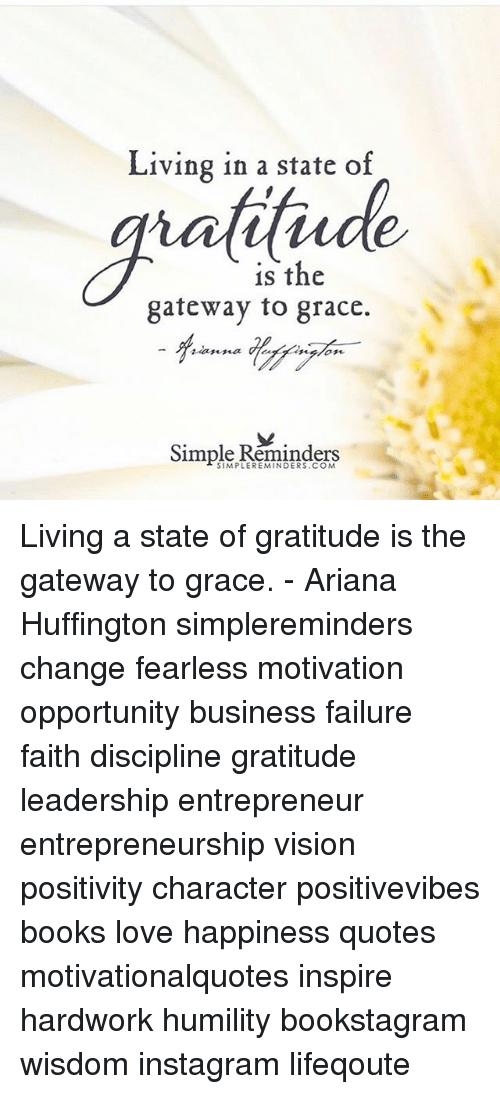 Living In A State Of Is The Gateway To Grace Simple Reminders