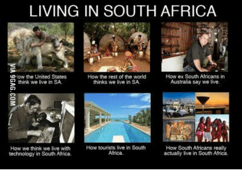South Africa African And Tourist Living In How Ex