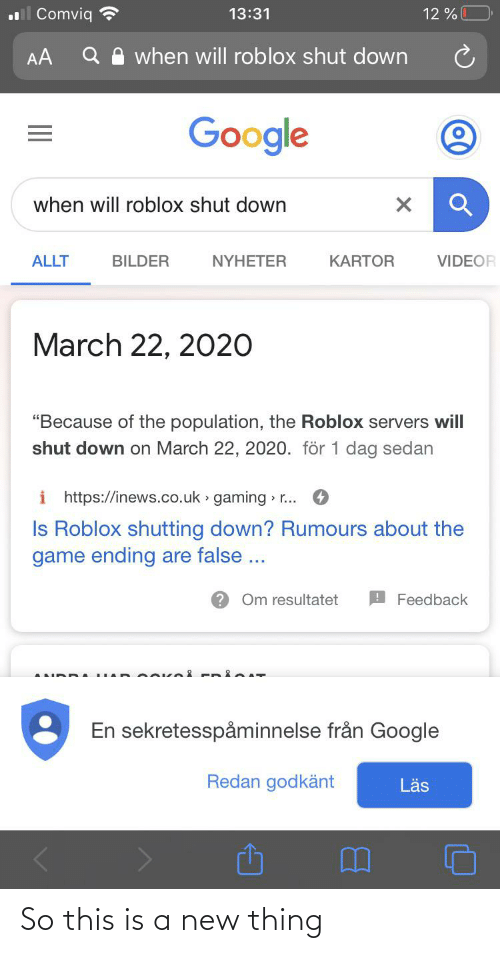 Why Is Roblox Shutting Down In March