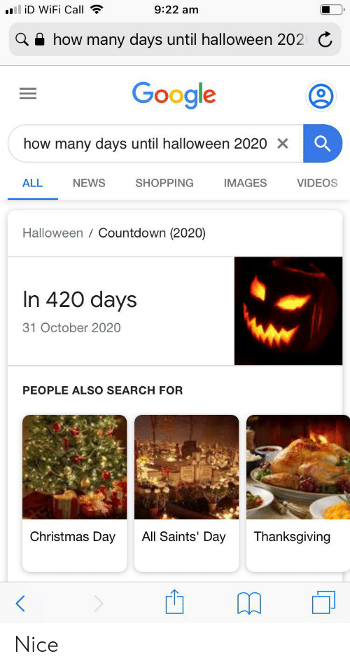 How Many Days From Halloween 2020 To Christmas 2020 Ll iD WiFi Call 922 Am How Many Days Until Halloween 202C Google