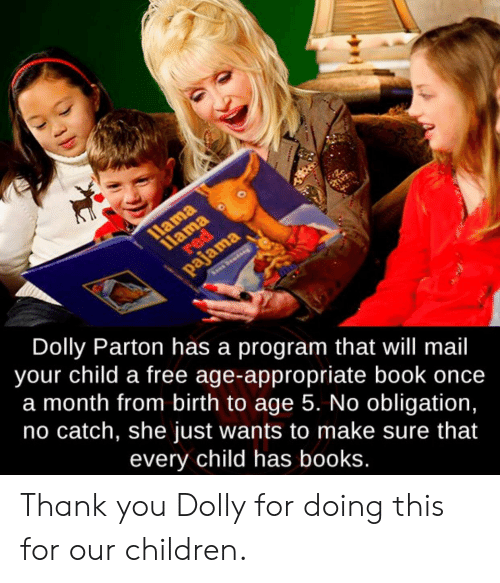 Llama 11ama Red Pajama Dolly Parton Has a Program That Will