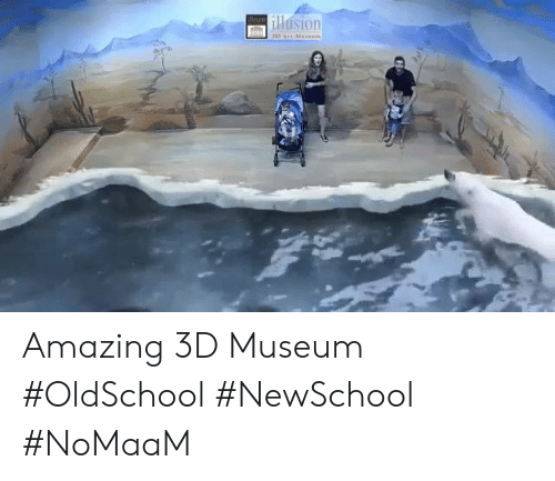 Memes, Amazing, and 🤖: llasion Amazing 3D Museum #OldSchool #NewSchool #NoMaaM