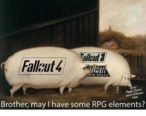 Video Games, New Vegas, and Rpg: llgut  Fallkut4  NEW VEGAS  Story  Player Choice  Good Dialogue  Brother, may I have some RPG elements?