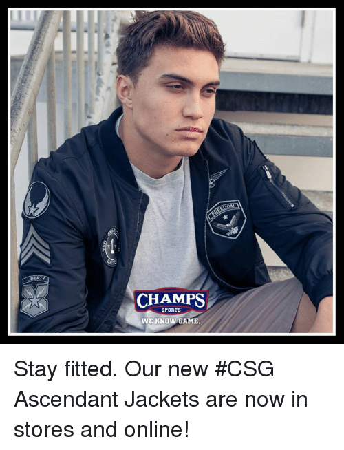 62a1c3169aed LLIBERTYa CHAMPS SPORTS WE KNOW GAME Stay Fitted Our New  CSG ...