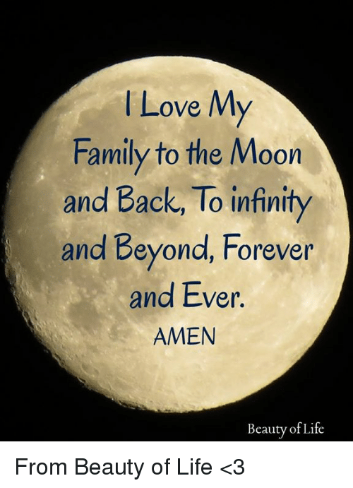 lLove M Family to the Moon and Back to Infinity and Beyond