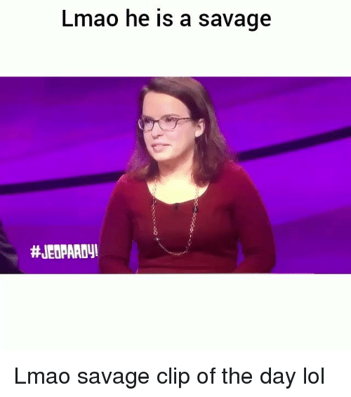 Funny, Jeopardy, and Lmao: Lmao he is a savage  Lmao savage clip of the day lol