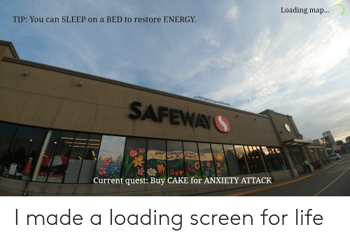 Loading Map TIP You Can SLEEP on a BED to Restore ENERGY