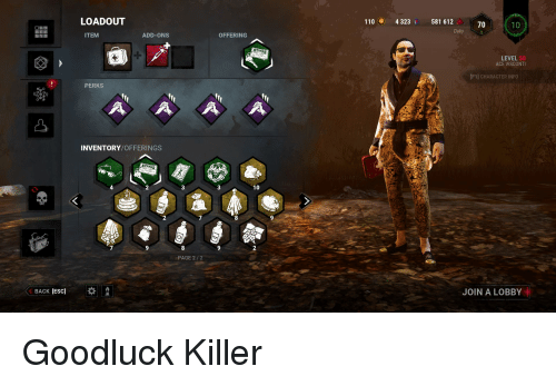 LOADOUT 1106 4323 I 581 612 70 Daby ITEM ADD-ONS OFFERING
