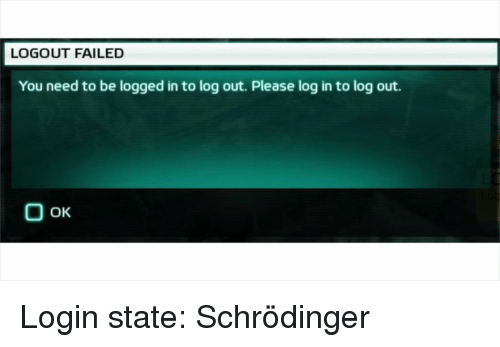 log in to log out