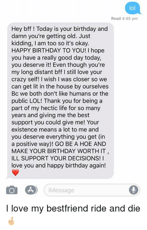 Happy Birthday Text For Best Friend | zwonzorg