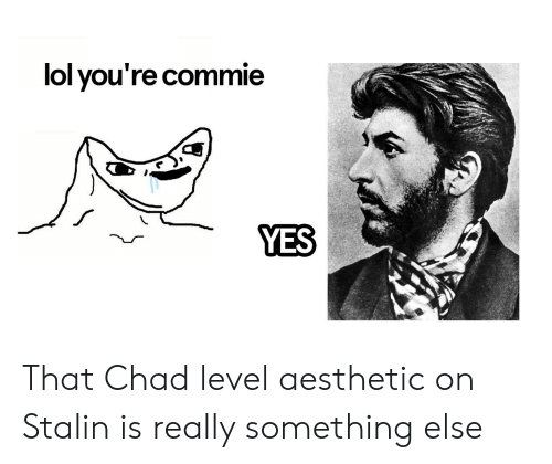 Lol You Re Commie Yes That Chad Level Aesthetic On Stalin Is Really Something Else Lol Meme On Me Me