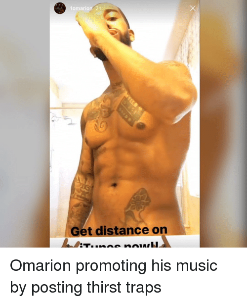 Memes, Omarion, and 🤖: lomario  2h  Get distance on Omarion promoting his music by posting thirst traps
