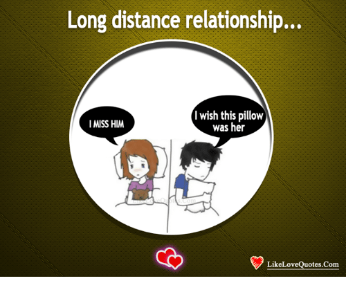 Long Distance Relationship I Wish This Pillow I Miss Him Was Her