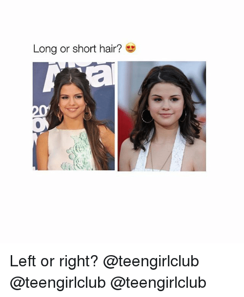 Girl, Hair, and Right: Long or short hair? Left or right? @teengirlclub @teengirlclub @teengirlclub