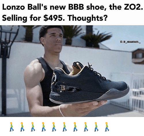 Lonzo Ball S New Bbb Shoe The Zo2 Selling For 495 Thoughts Ig