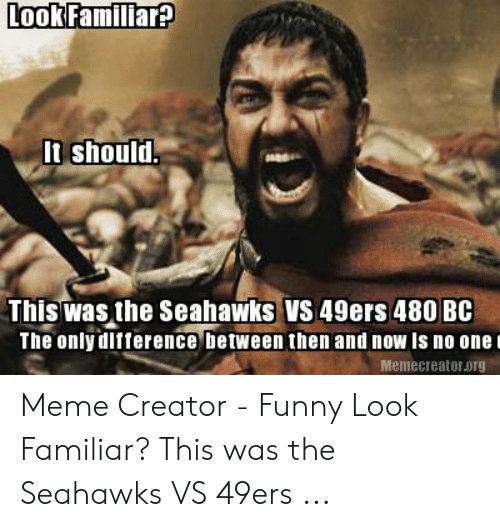Look Famillar It Should This Was The Seahawks Vs 49ers 480