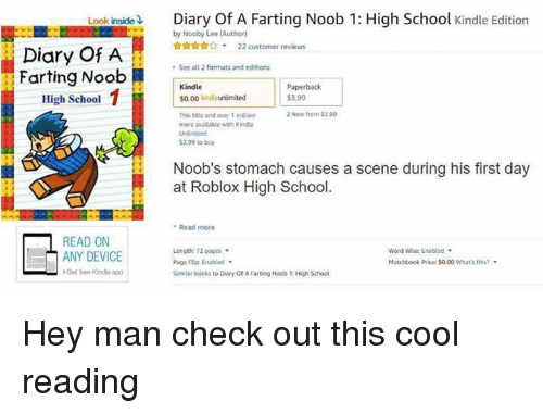 Look Inside Diary Of A Farting Noob 1 High School Kindle Edition By