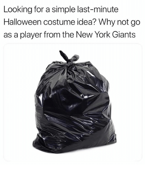 Halloween, New York, and New York Giants: Looking for a simple last-minute  Halloween costume idea? Why not go  as a player from the New York Giants