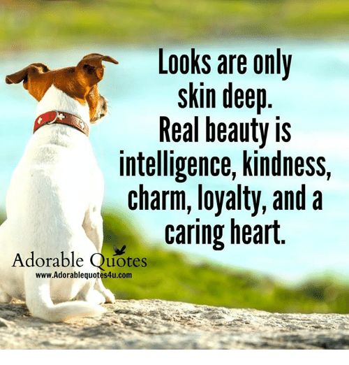 Looks Are Only Skin Deep Real Beauty Is Intelligence Kindness Charm