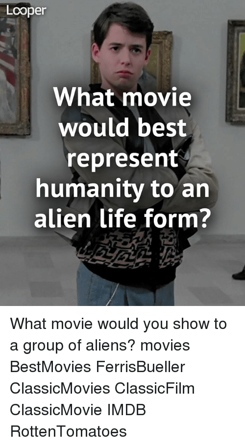 Looper What Movie Would Best Represent Humanity to an Alien