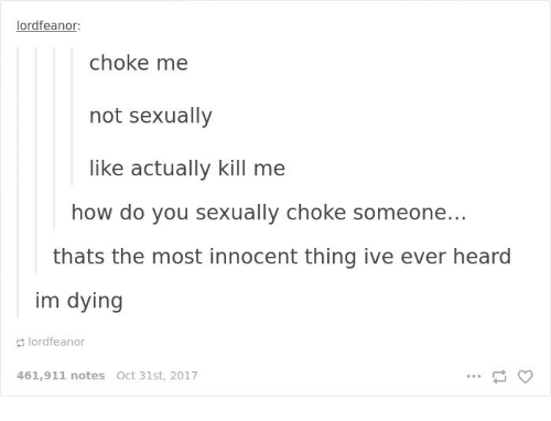 Choking someone out sexually