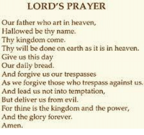lord s prayer our father who art in heaven hallowed be thy name thy