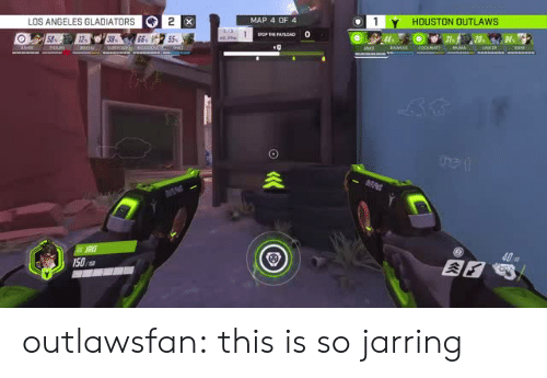 Gladiator, Tumblr, and Blog: LOS ANGELES GLADIATOR  MAP 4 OF 4  HOUSTON OUTLAWS  40  150,s outlawsfan:  this is so jarring
